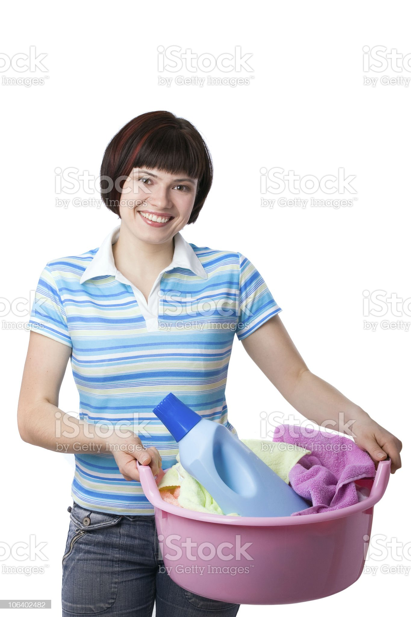 Time for laundry day. royalty-free stock photo