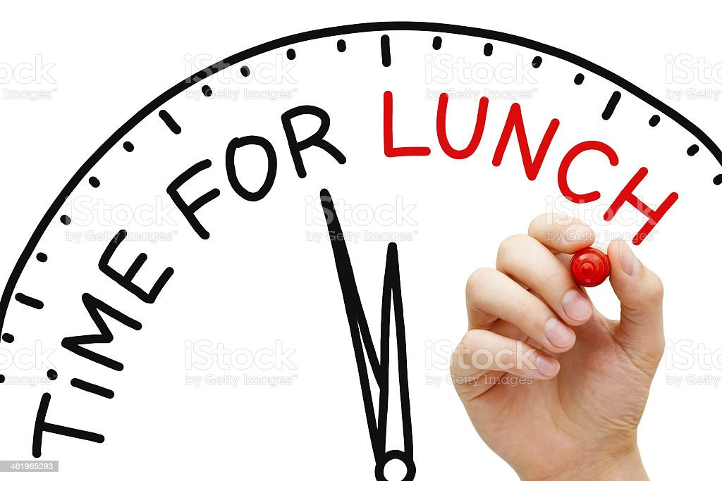 Time for Lunch stock photo