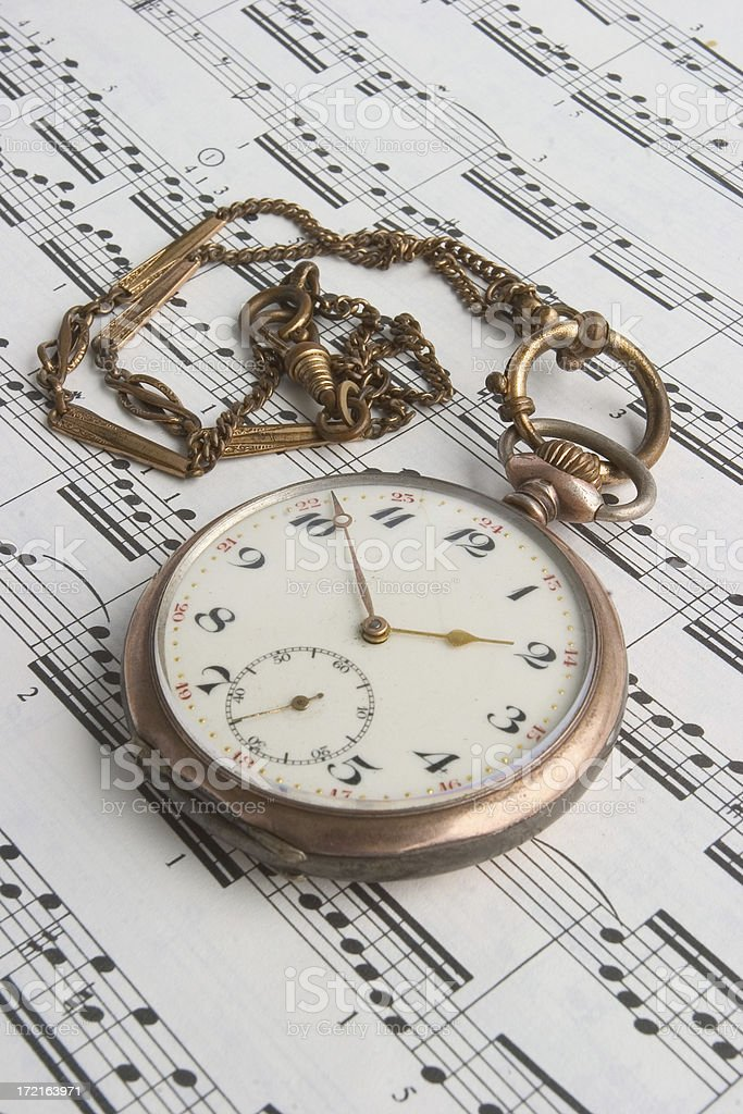 Time for music royalty-free stock photo