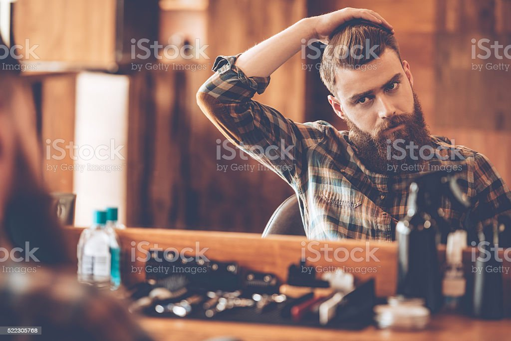Time for new haircut. stock photo