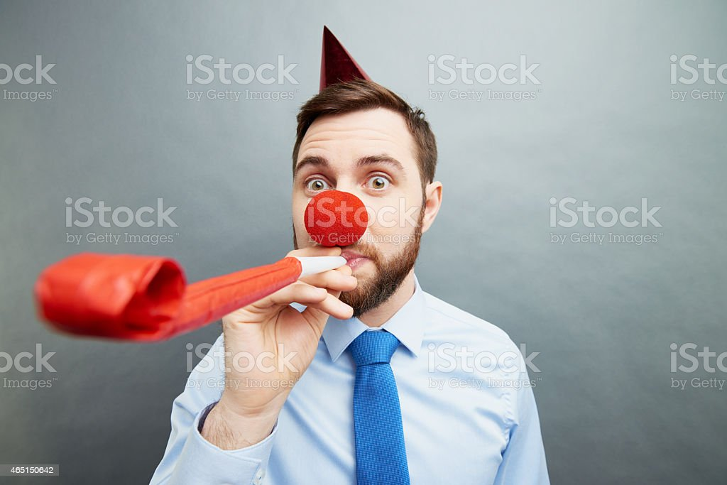 Time for office party stock photo