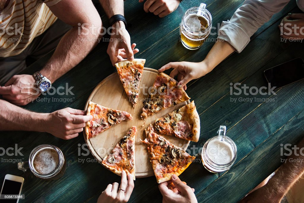 Time for pizza! stock photo