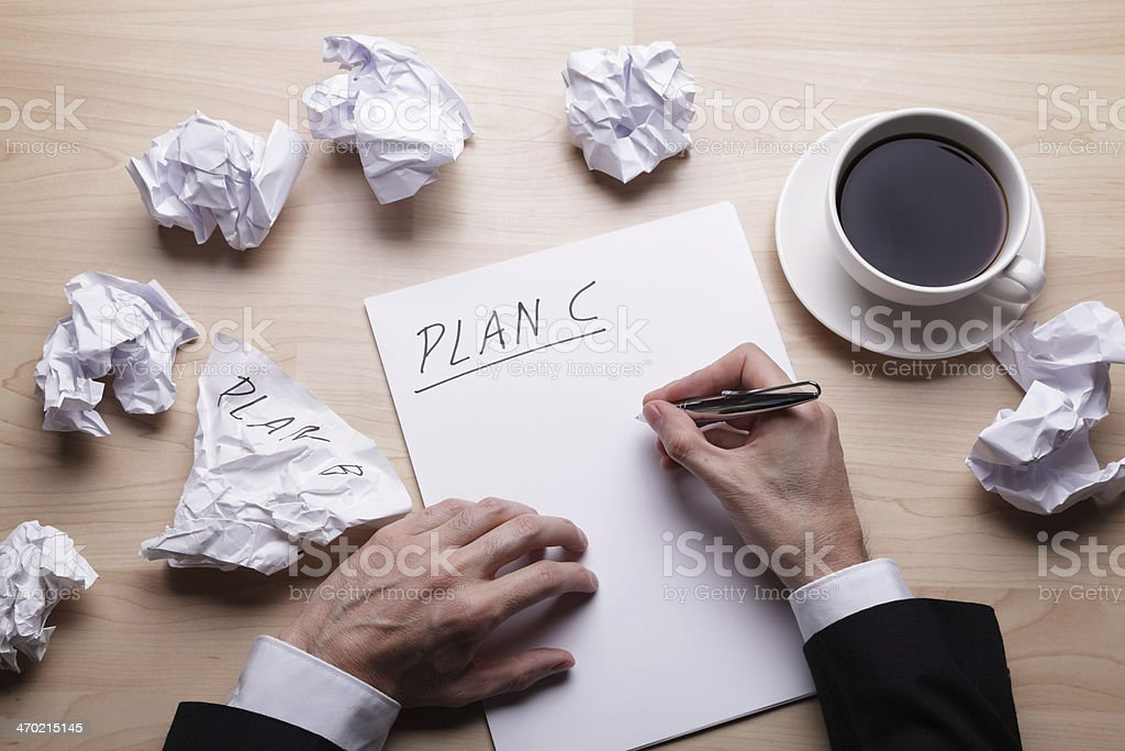Time for Plan C stock photo