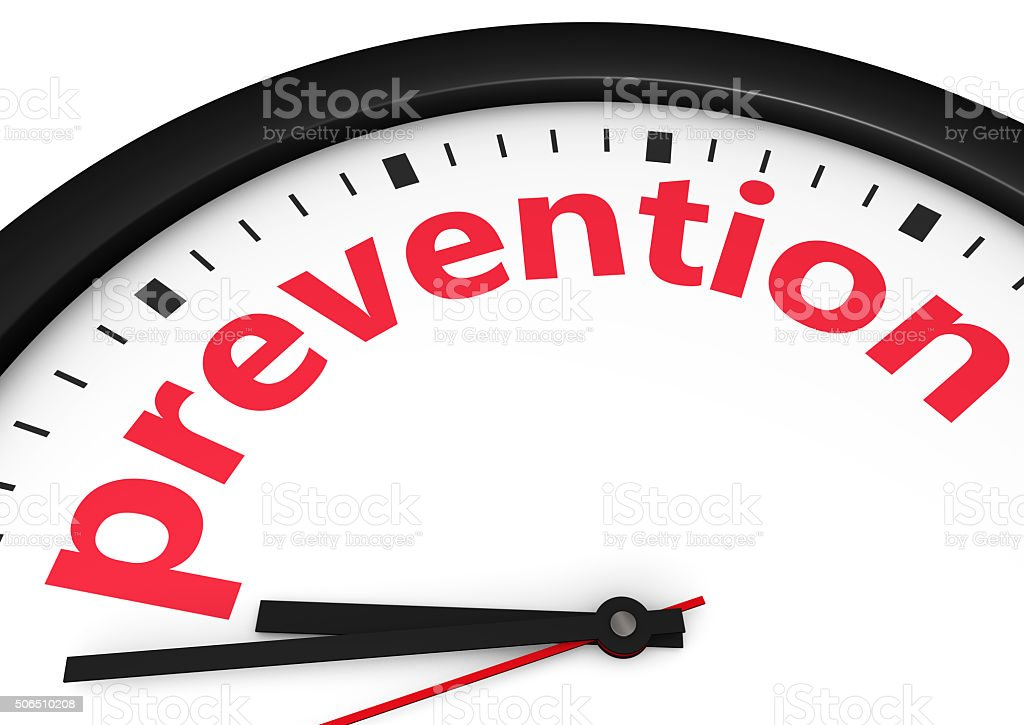 Time For Prevention Concept stock photo