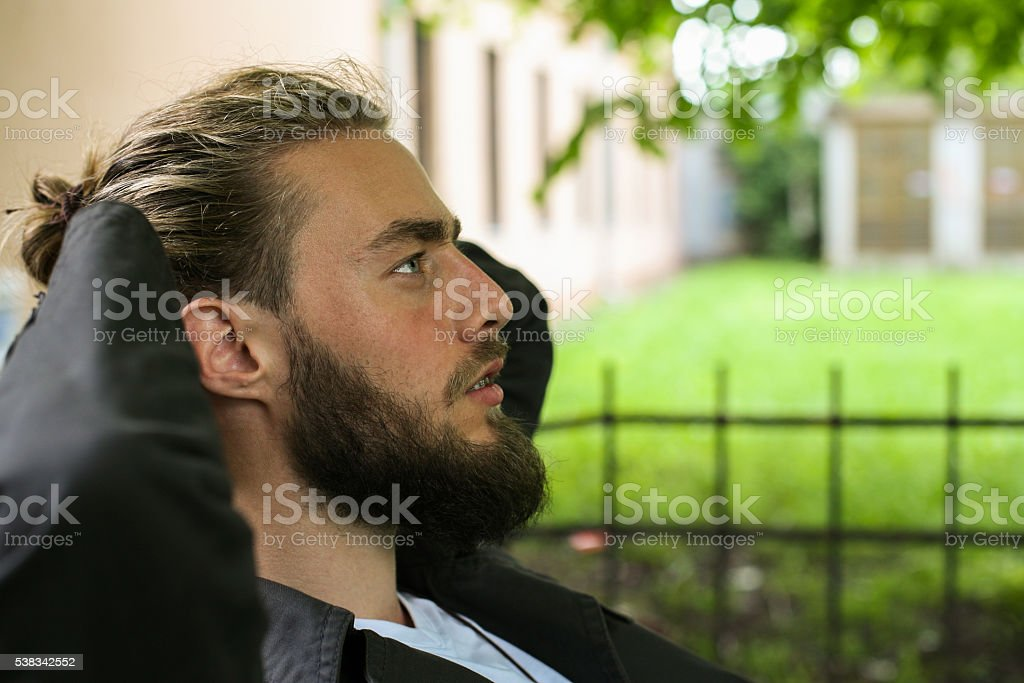 Time for relax. stock photo