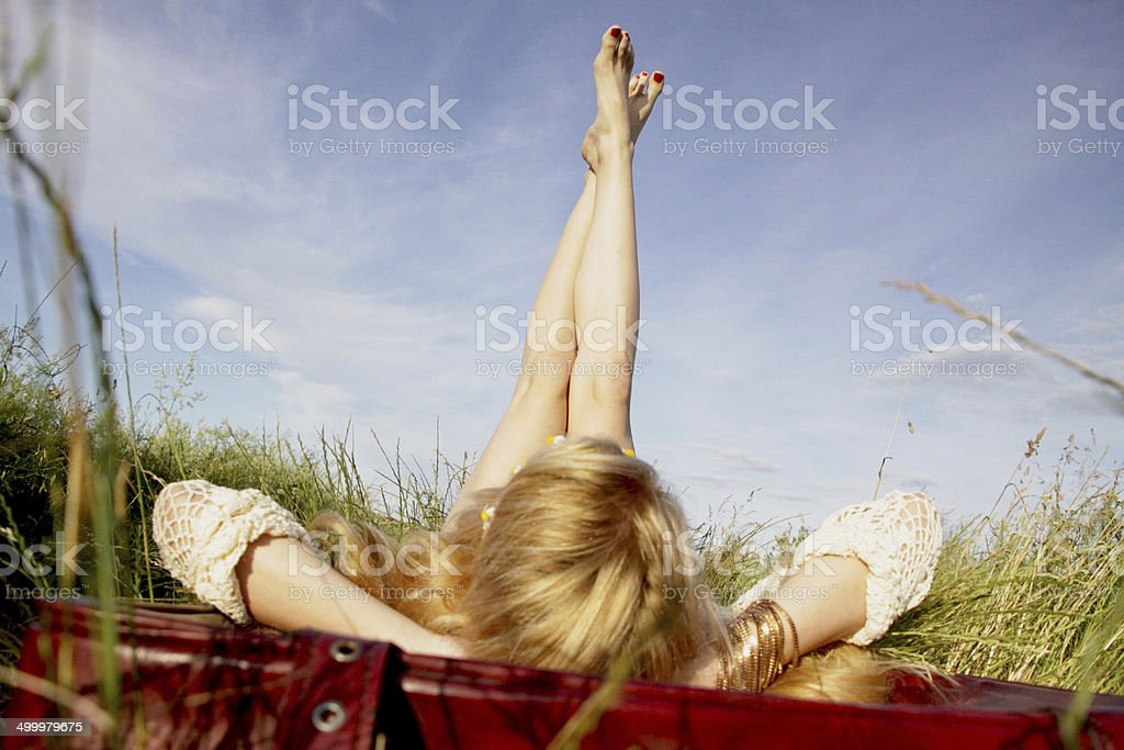 Time for relaxing stock photo
