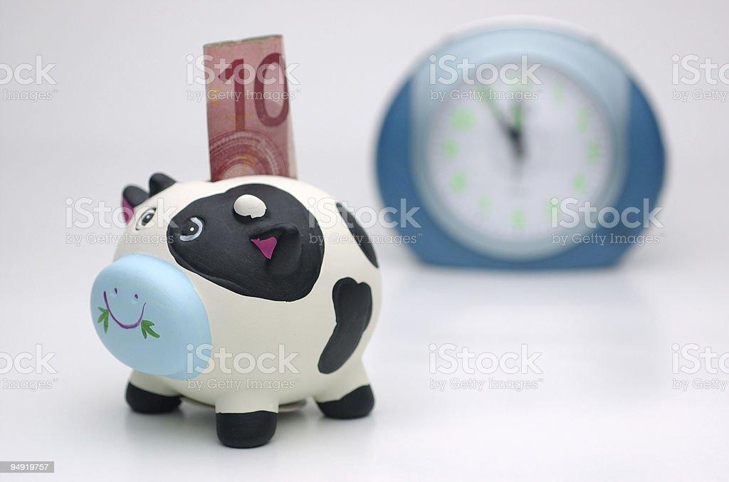 Time for saving stock photo