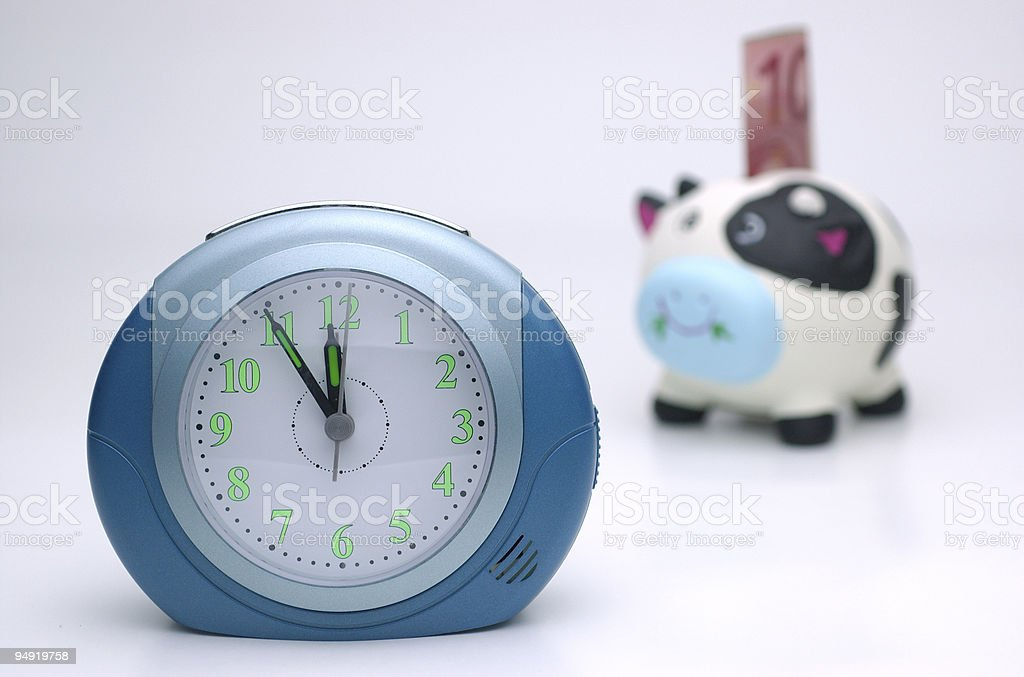 Time for saving royalty-free stock photo