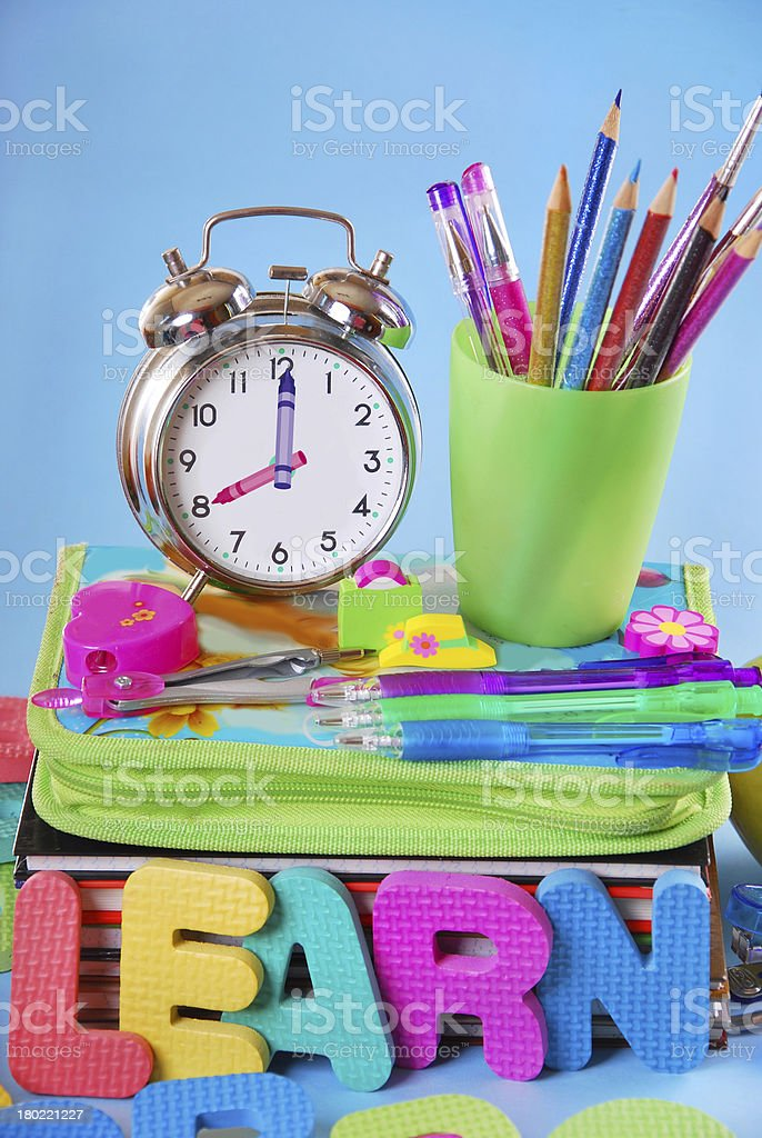 time for school concept royalty-free stock photo