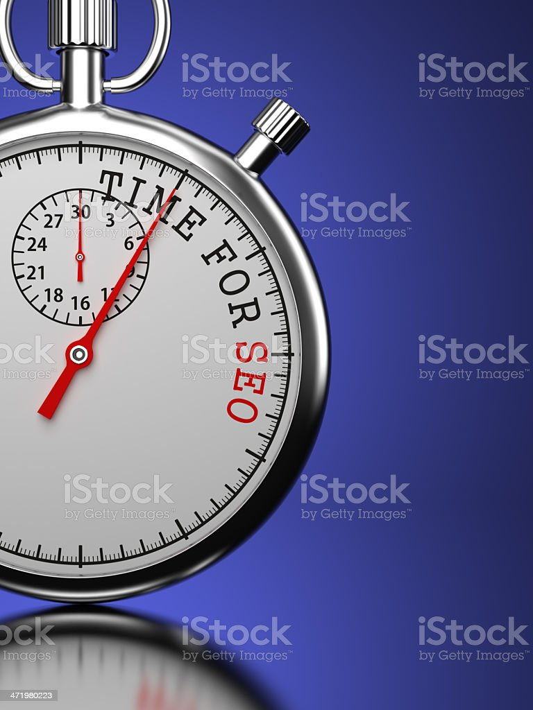 Time for SEO. Business Concept. stock photo