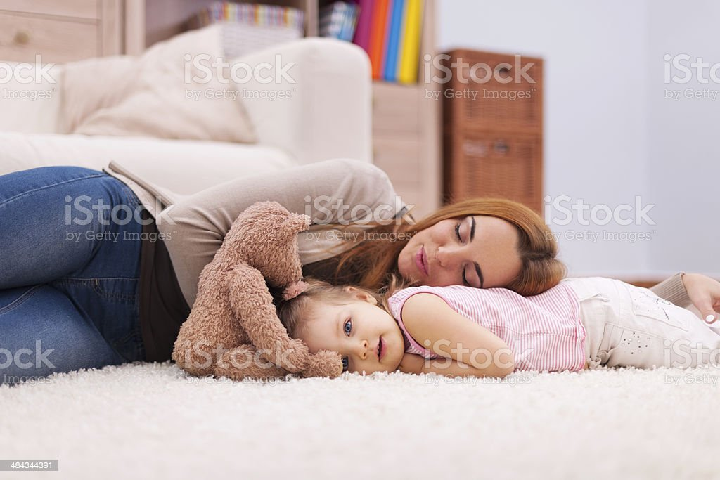 Time for short nap during the day stock photo