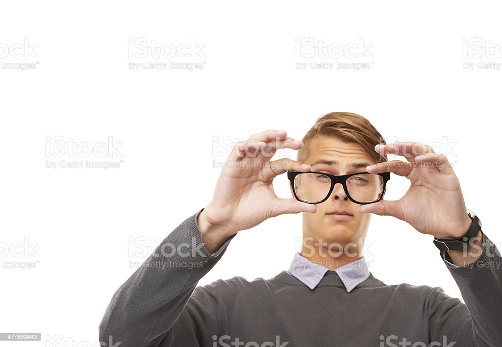 Time for some new glasses royalty-free stock photo