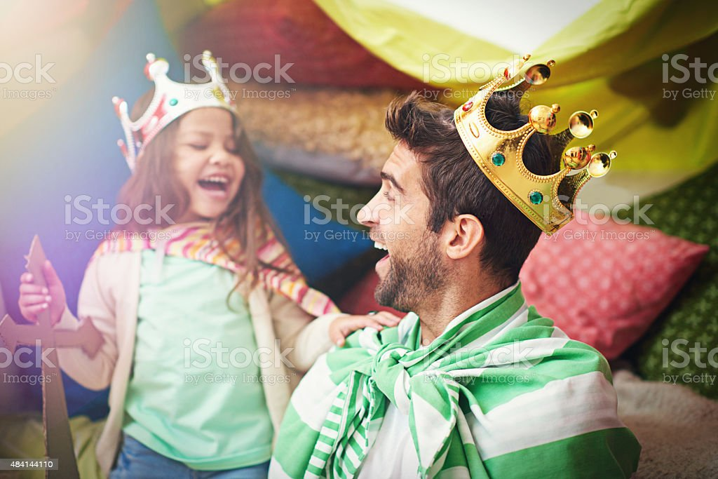 Time for some royal fun stock photo