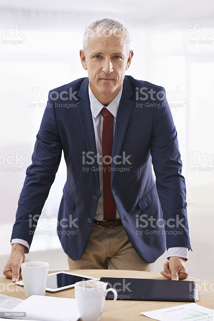 Time for some serious business stock photo