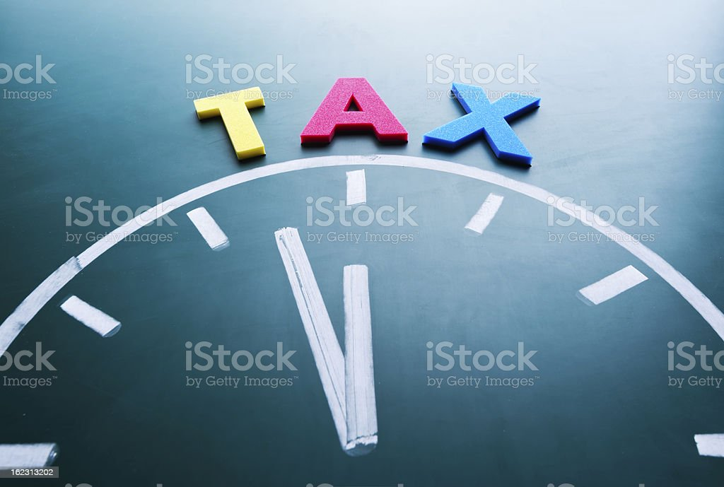 Time for tax concept stock photo