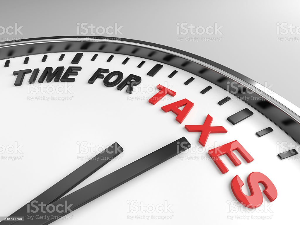 Time for taxes stock photo