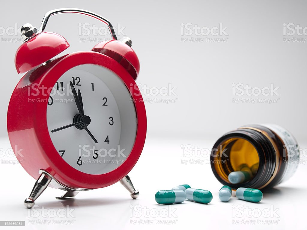 Time for the medicine stock photo