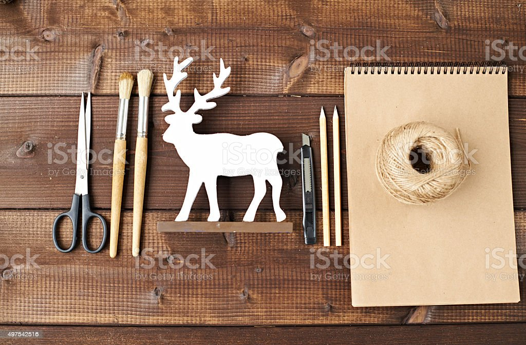 Time for Xmas craft stock photo