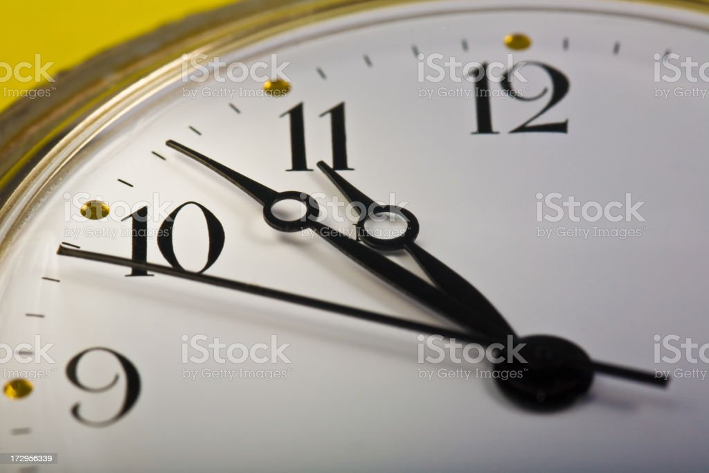 Time From Nine To Twelve royalty-free stock photo