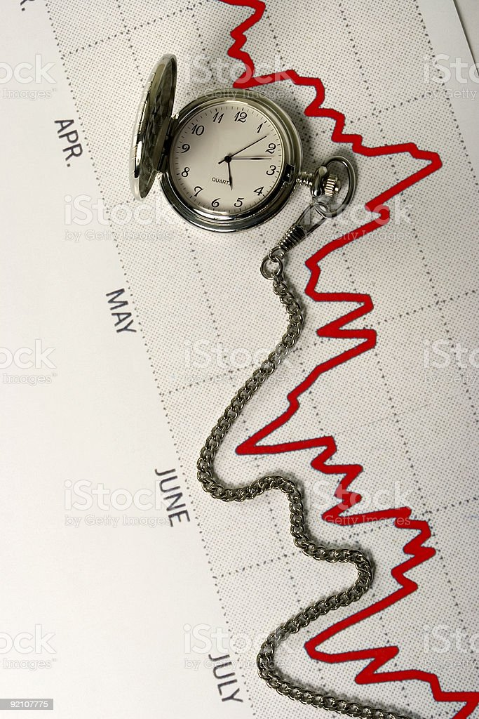 Time Graph stock photo