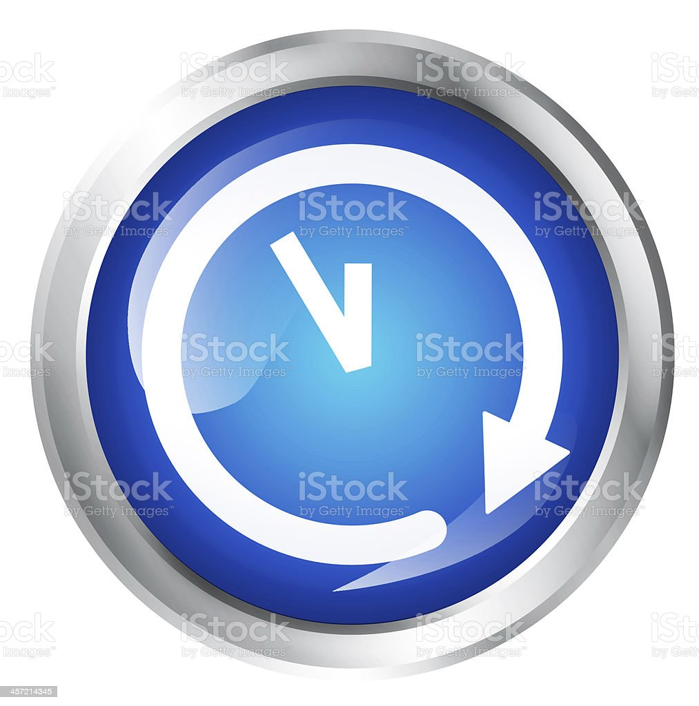 Time icon stock photo