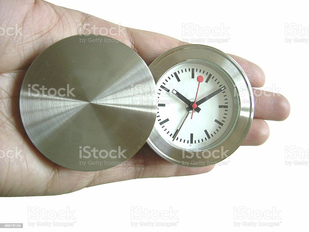Time in hand royalty-free stock photo