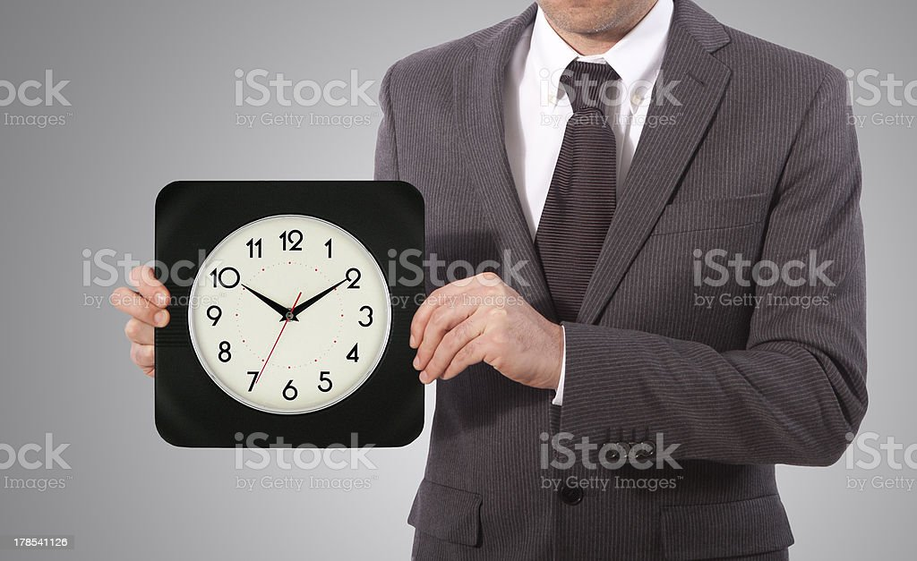time in hands royalty-free stock photo