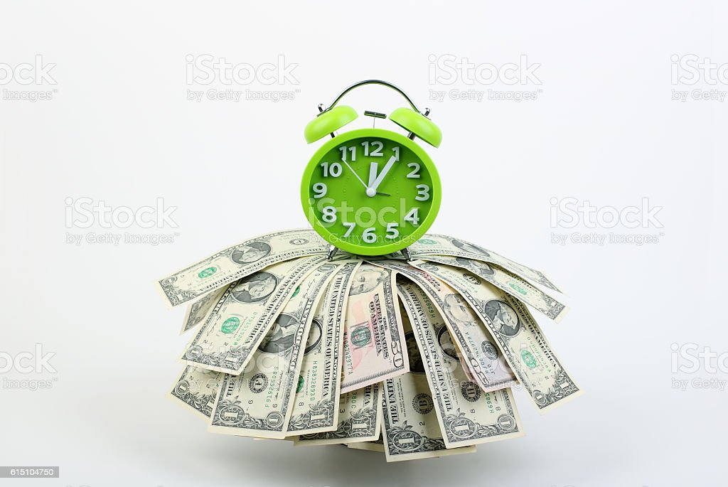 Time is cash stock photo