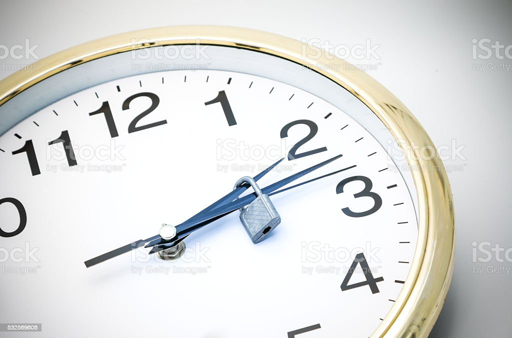 time is locked stock photo
