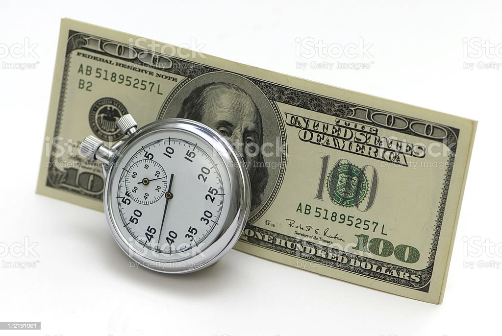 Time is Money 5 stock photo