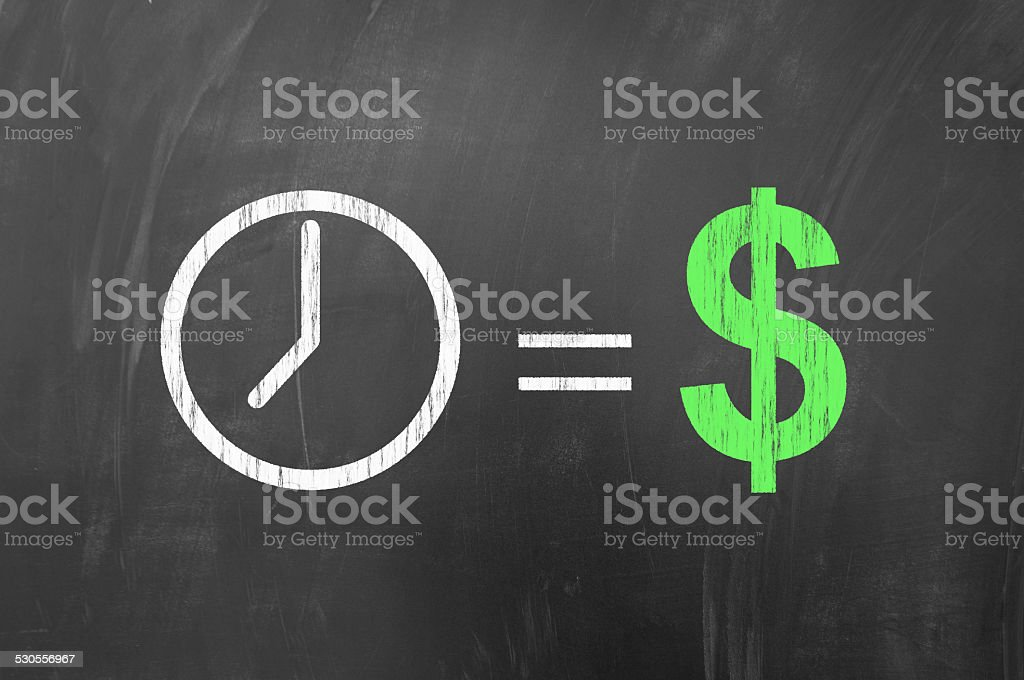 Time is money, american concept stock photo