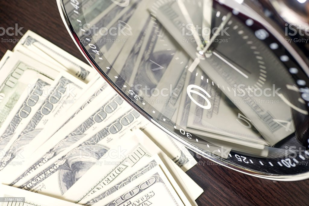 time is money and wealth stock photo