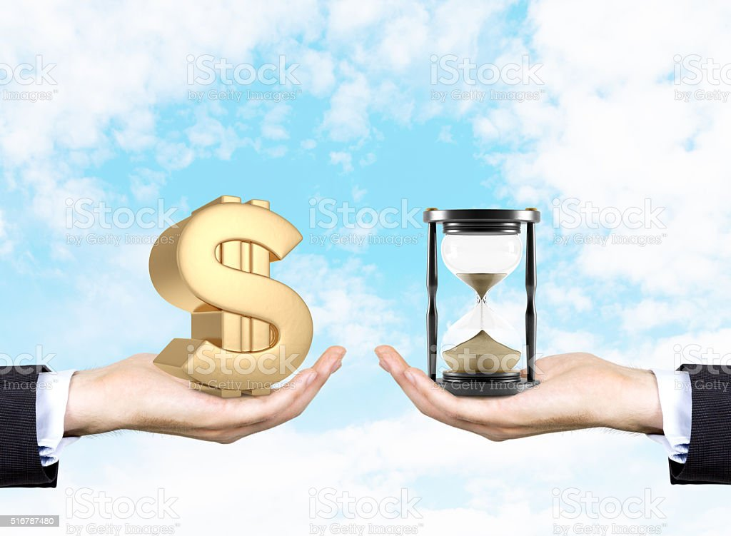 Time is money. Business concept stock photo