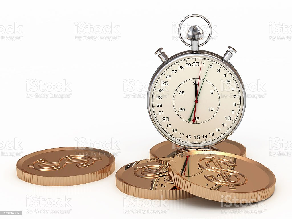 Time is money. Concept of Business royalty-free stock photo