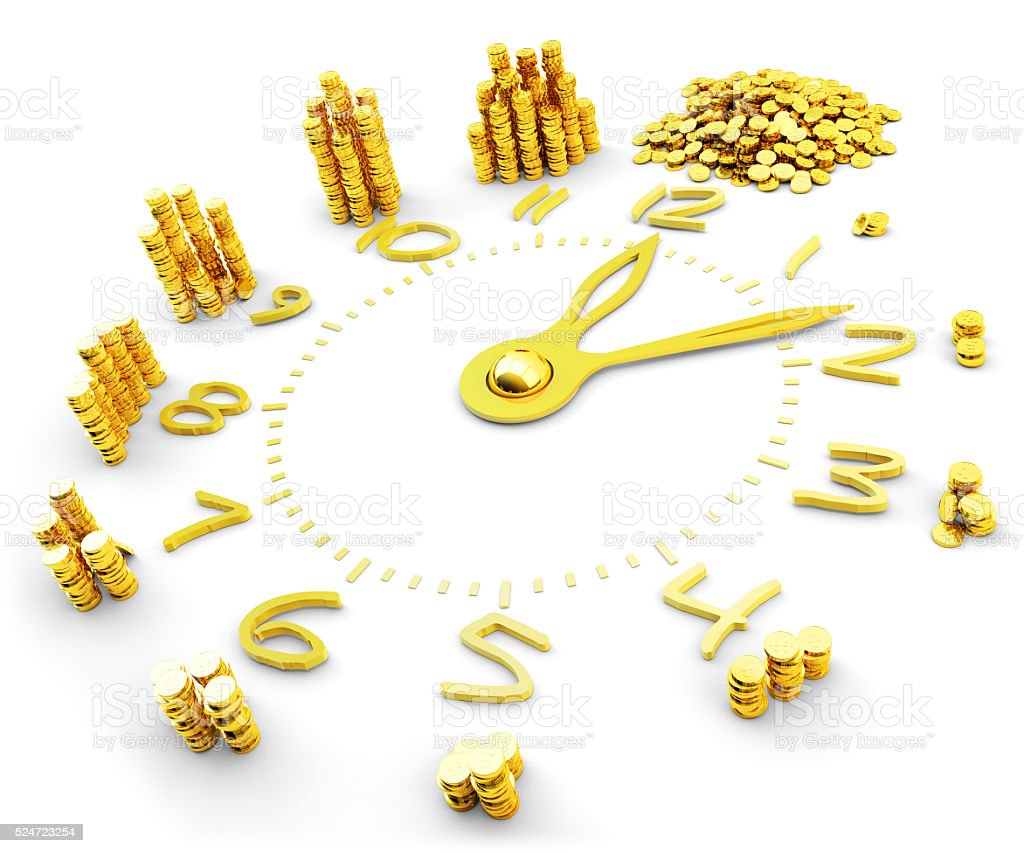 Time is money, making money, finance and business concept stock photo