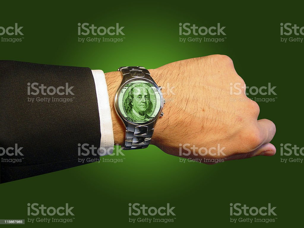 Time is Money (path included) royalty-free stock photo