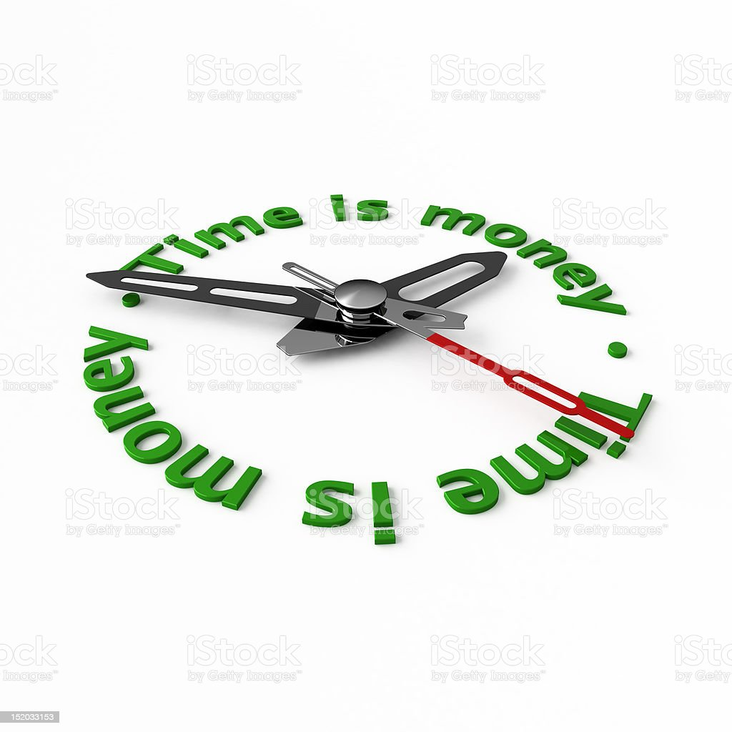Time is money. royalty-free stock photo