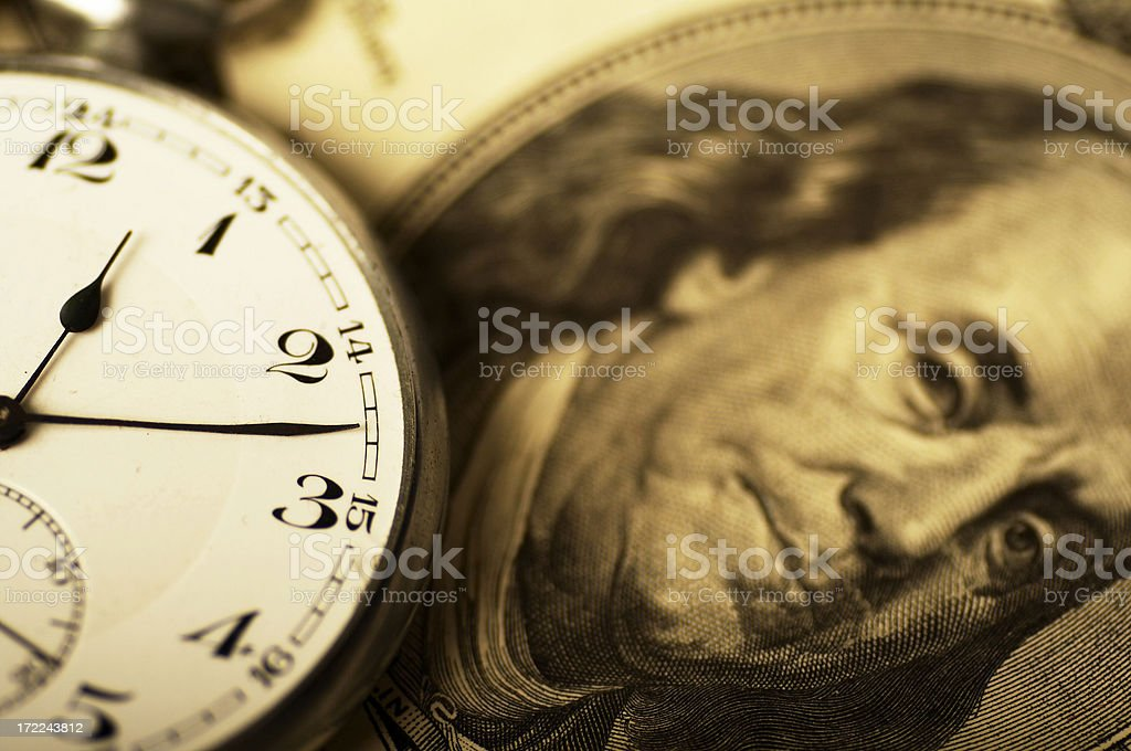 time is money ( gold tone ) stock photo