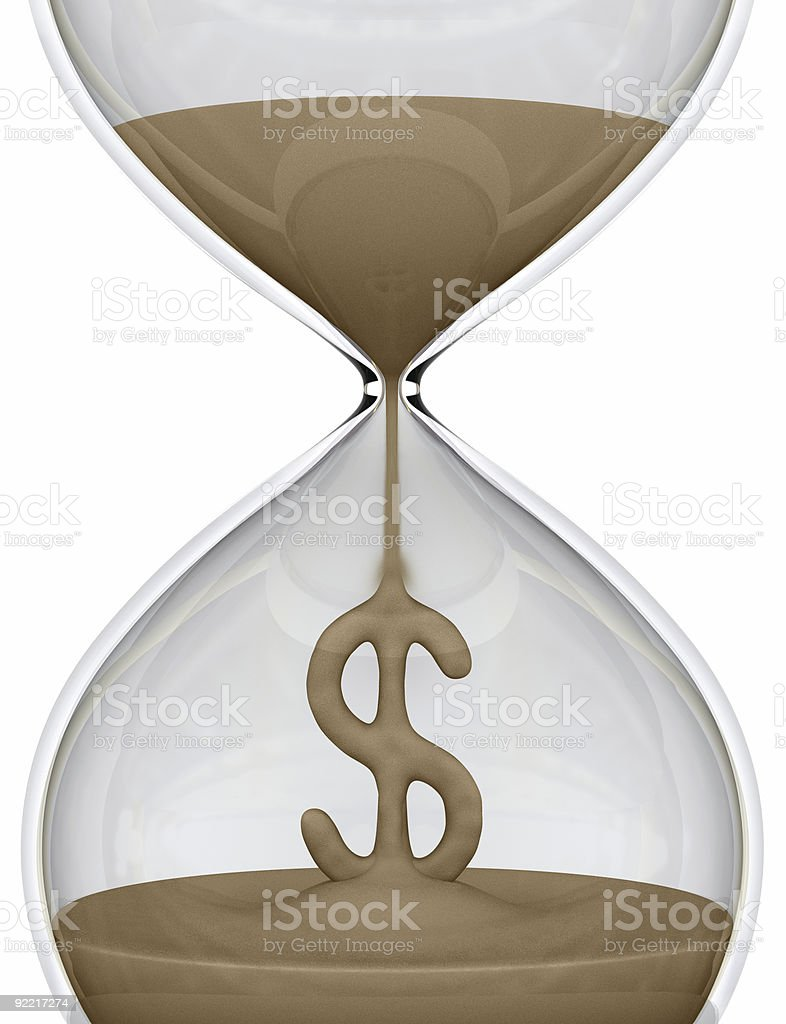 Time is Money (hourglass) royalty-free stock photo