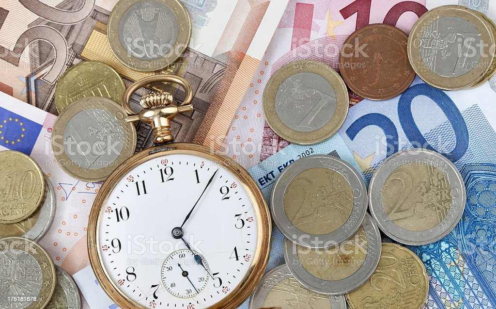 Time Is Money with Euro royalty-free stock photo