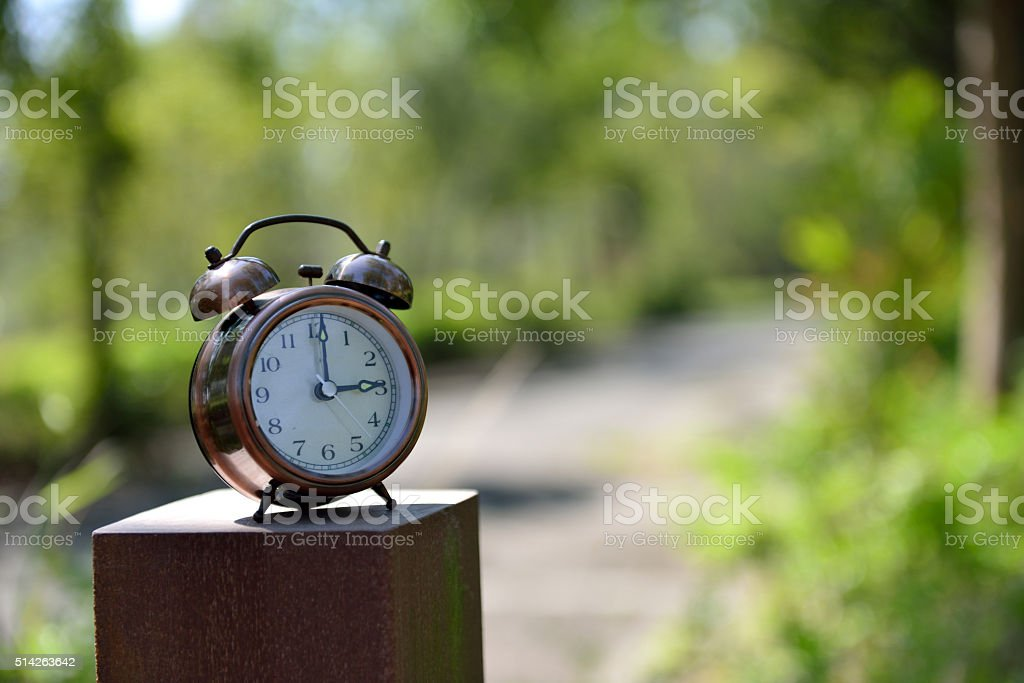 Time is power stock photo