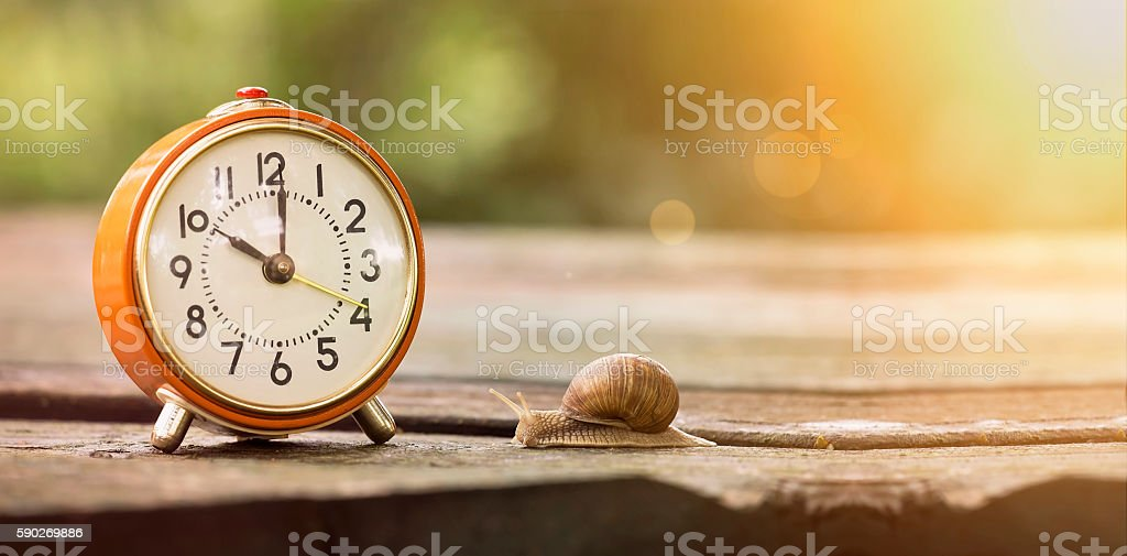 Time is slow stock photo