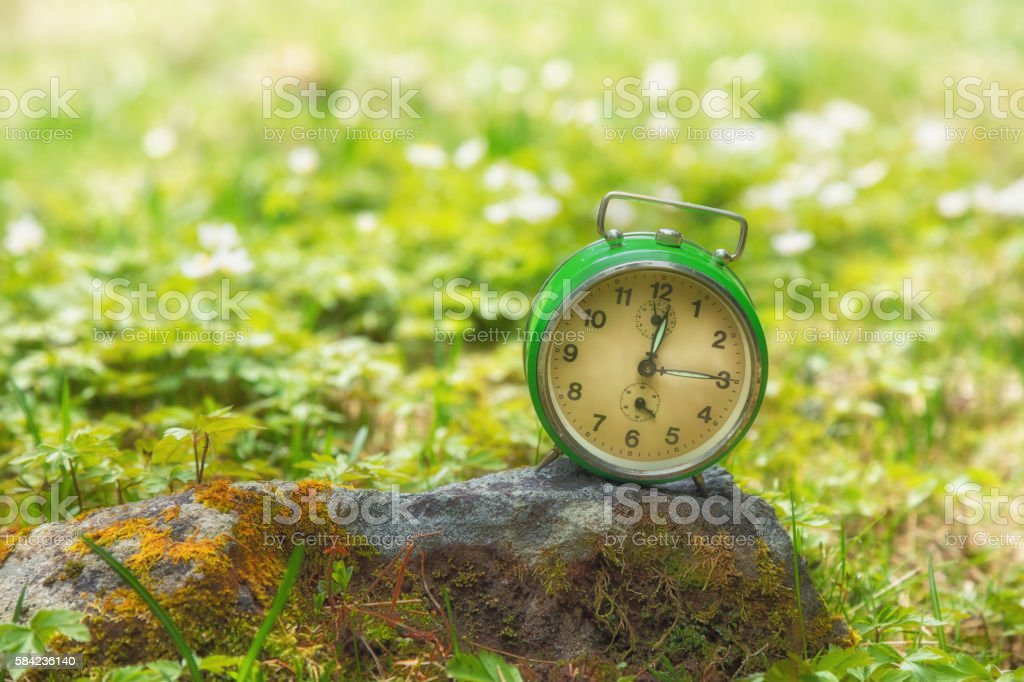 Time is ticking away for the nature? stock photo
