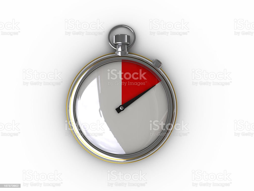 Time is up royalty-free stock photo