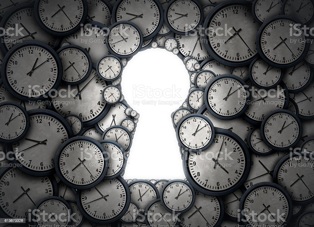 Time Key Solution stock photo