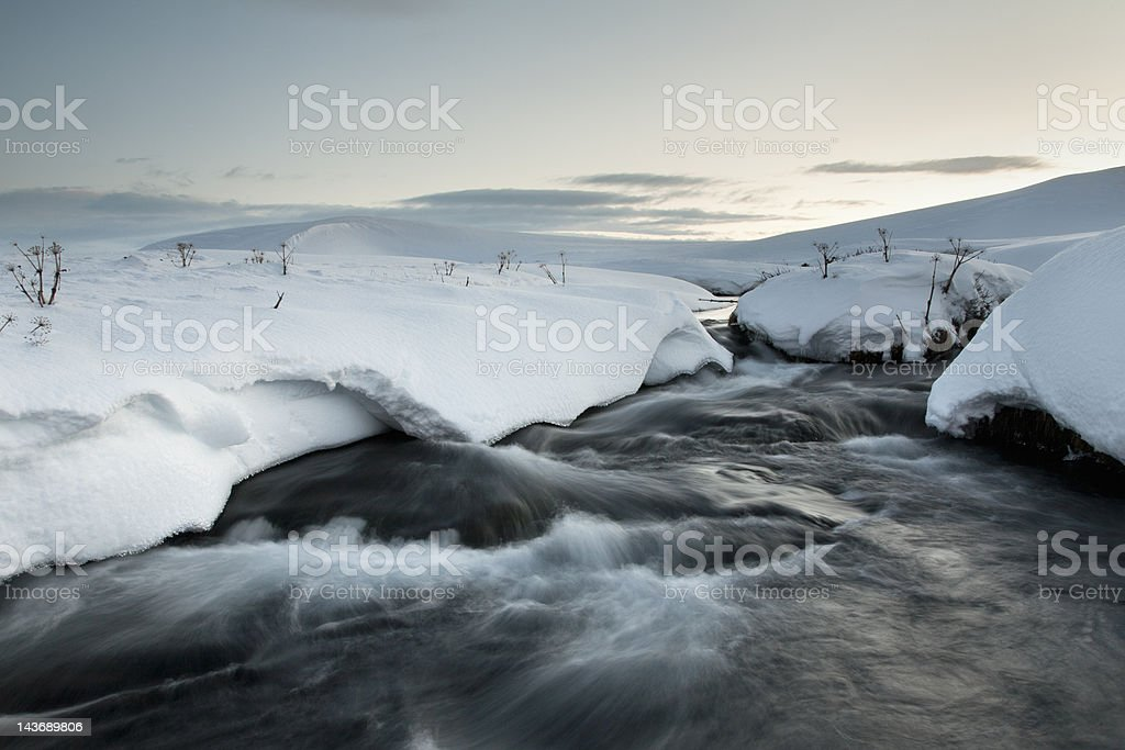 Time lapse view of glacial hot spring stock photo