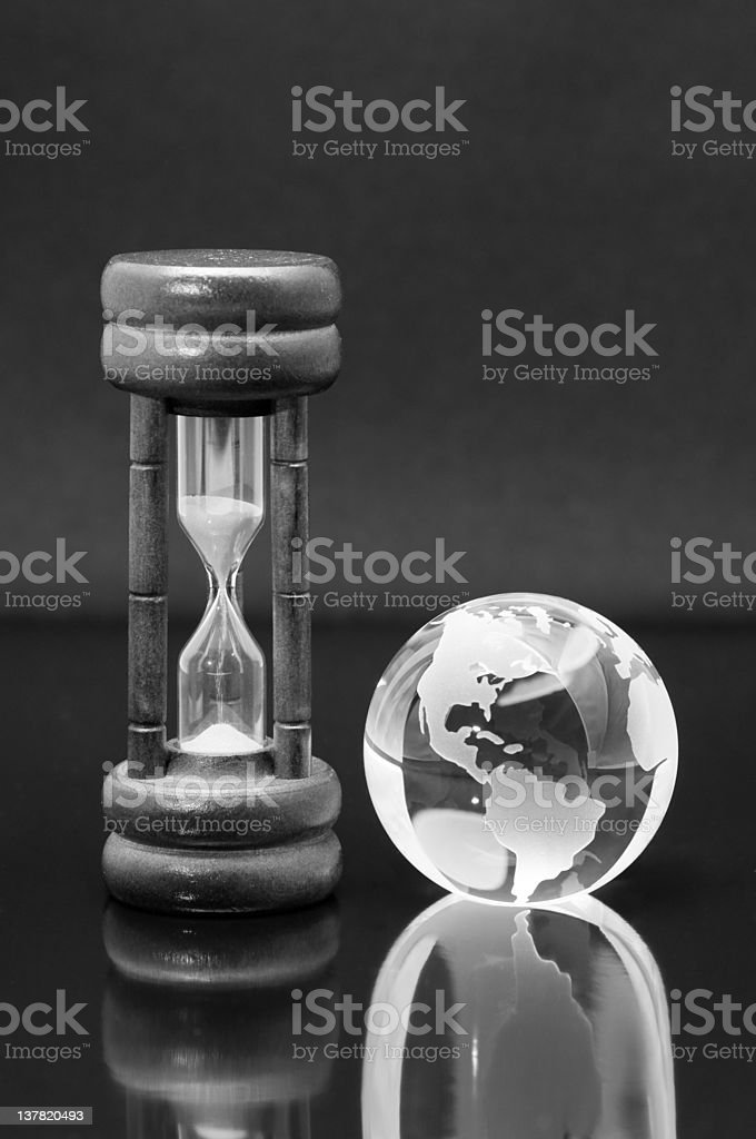 Time left for a small planet royalty-free stock photo
