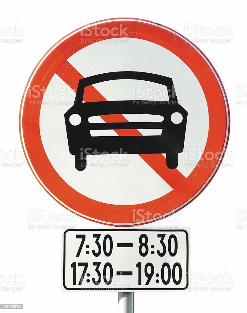 Time limit prohibition sign stock photo