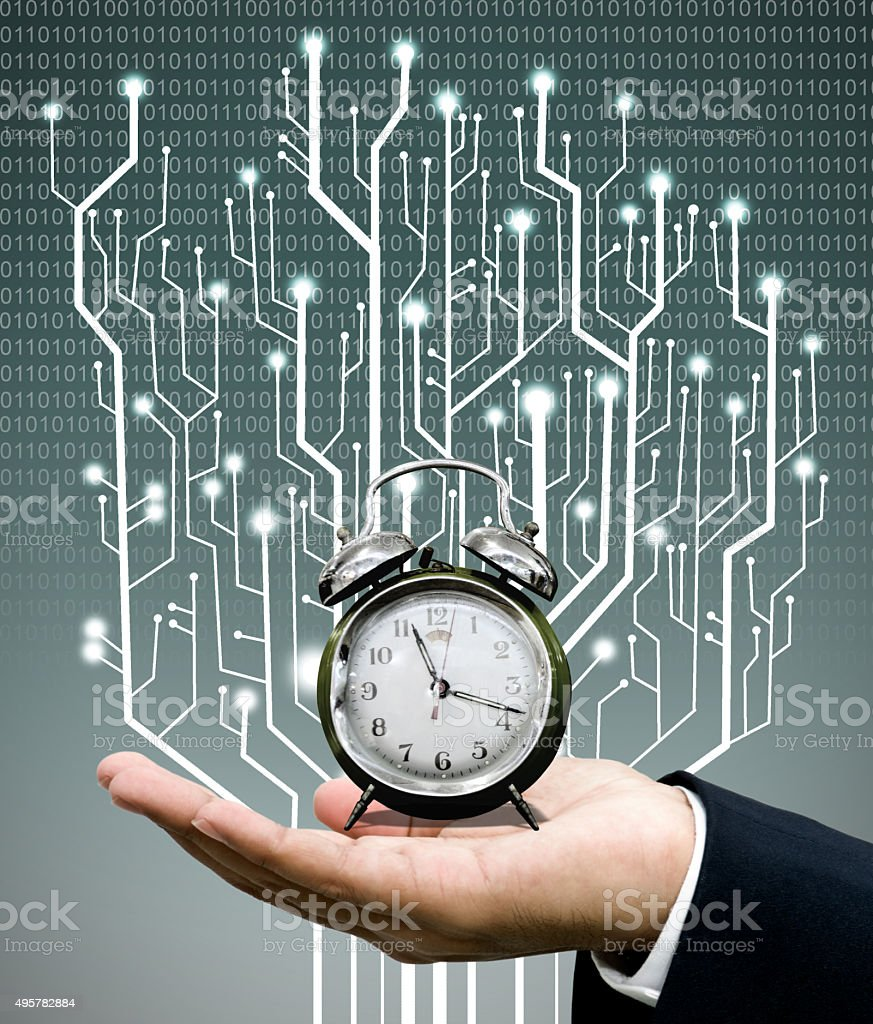 Time machine concept stock photo