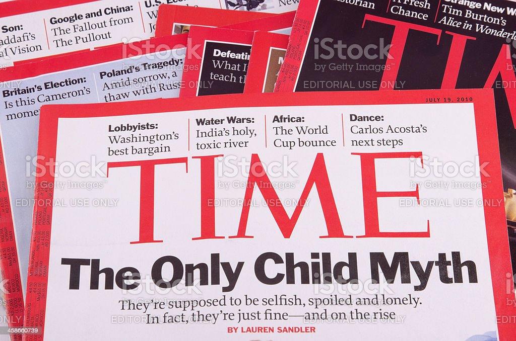 Time magazine stock photo